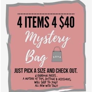 🛍MYSTERY BAG🛍🎀4 for $40🎀
